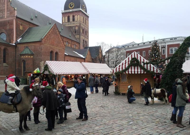 Kerstmarkt op het Domplein
