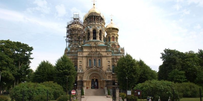 Russisch-orthodoxe St. Nicolaas kathedraal in Karoste