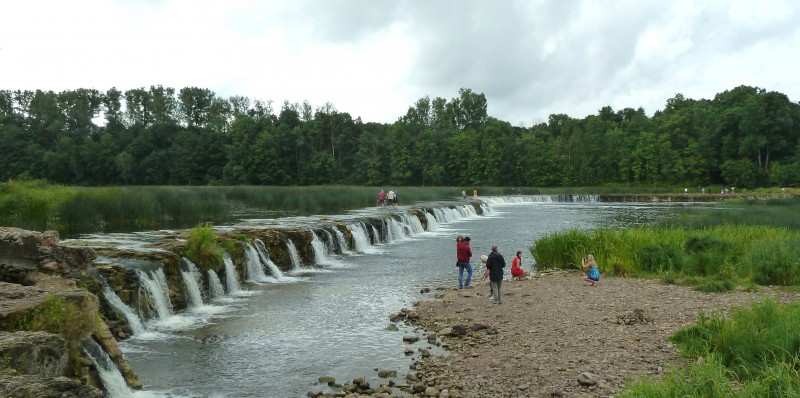 Ventas Rumba waterval in Kuldiga