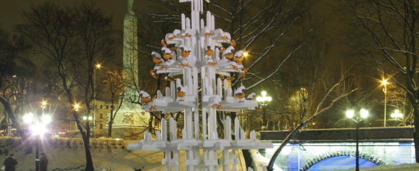 Kerstbomen in Riga