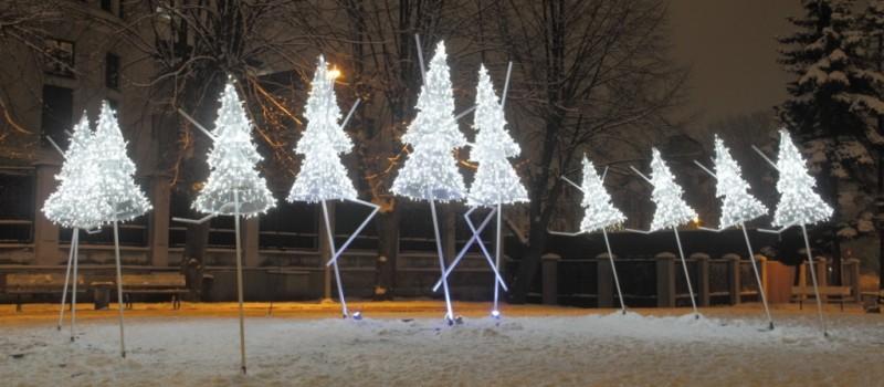 Kunstige kerstbomen in Riga