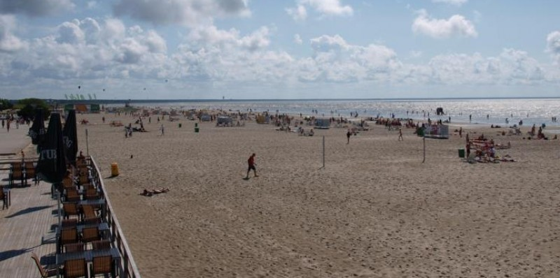 Strand bij Parnu